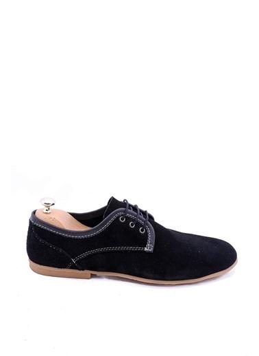Wessi Erkek Süet Bağcıklı Klasik Ayakkabı Siyah